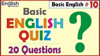 Basic English Quiz 20 Questions | English Speaking & Grammar