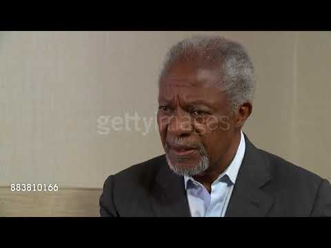 Kofi Annan interview; ENGLAND: London: INT Kofi Annan, interview SOT - re Rohingya refugee crisis