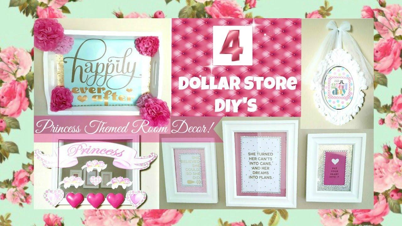 4 Girly Princess Room Decor Ideas! DOLLAR STORE DIY'S ...