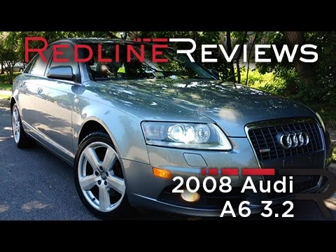 2008 audi a6 3 2 review walkaround exhaust test drive youtube. Black Bedroom Furniture Sets. Home Design Ideas