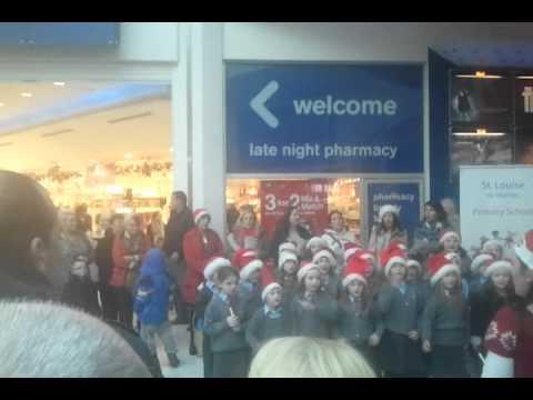 St Louise School singing in LiffeyVally.2