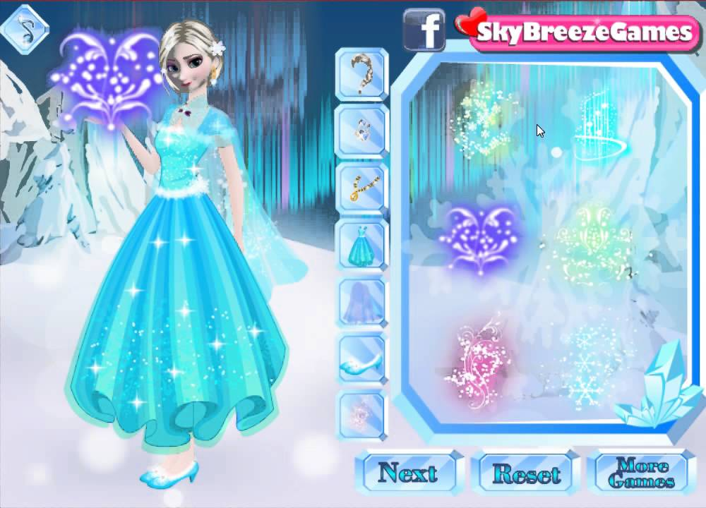 Frozen Movie Game Disney Anna Elsa Sisters Dress Up
