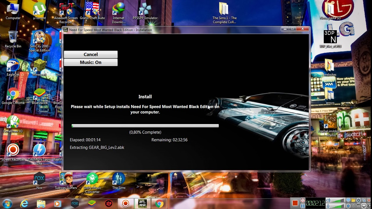 How To Download And Install Need For Speed Most Wanted Black Edition Mr Dj Repack Youtube