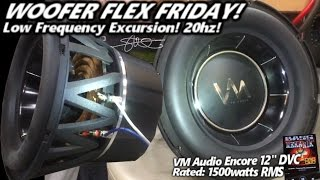 Woofer Flex Friday! VM Audio Encore 12