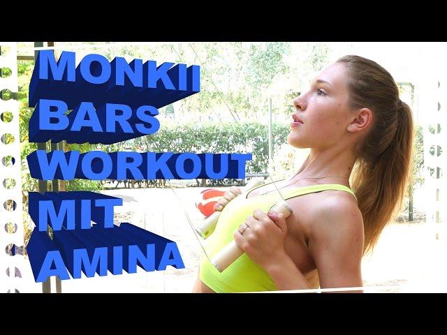 Monkii Bars - Workout mit Amina (4K, english subs)