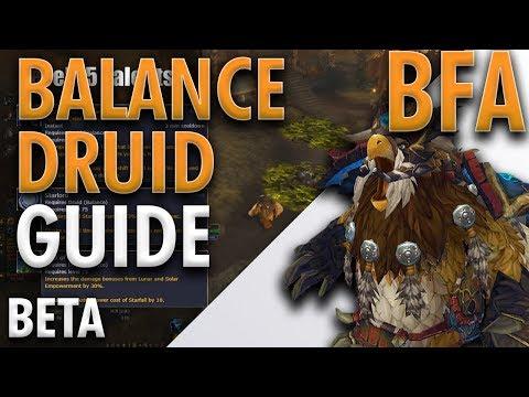 BFA BETA | BALANCE DRUID DETAILED GUIDE | Boomkins T1 DPS!