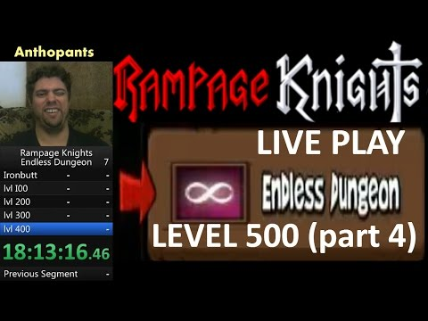 Rampage Knights Endless Dungeon Live Playthrough to level 500 (part 4)