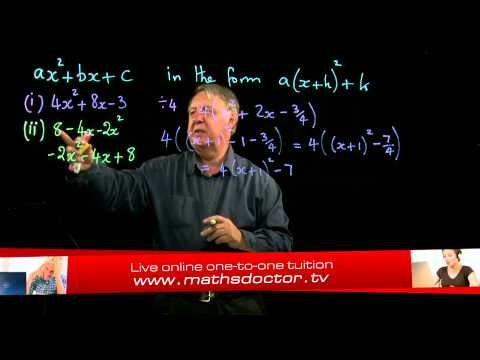 AS Core Maths 2.8 General completing the square