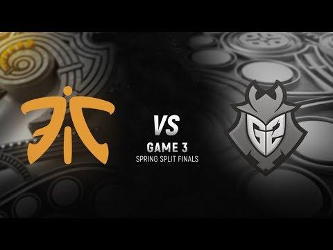 FNC vs. G2 | Final Game 3 | EU LCS Spring Split | G2 Esports vs. Fnatic (2018)