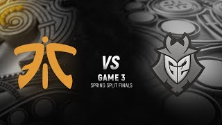 FNC vs. G2 | Final Game 3 | EU LCS Spring Split | G2 Esports vs. Fnatic (2018)