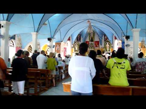 Beautiful singing in a Polynesian church