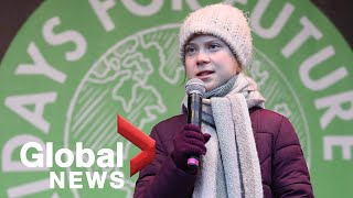 Greta Thunberg joined by 60,000 at Hamburg climate protest