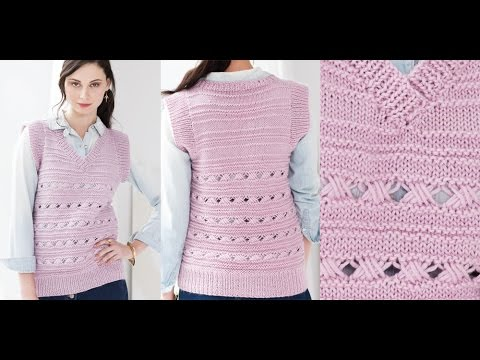 Tutorial For Cross 6 Stitch Pattern Vest Vogue Knitting Spring