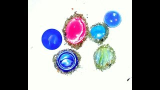как сделать драгоценный камень из пуговицы и камешка Creativity & Art of Olga Mishina