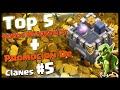 TOP 5: ROBOS MILLONARIOS + PROMOCION DE CLANES #5 - A por todas con Clash of Clans - Español - CoC