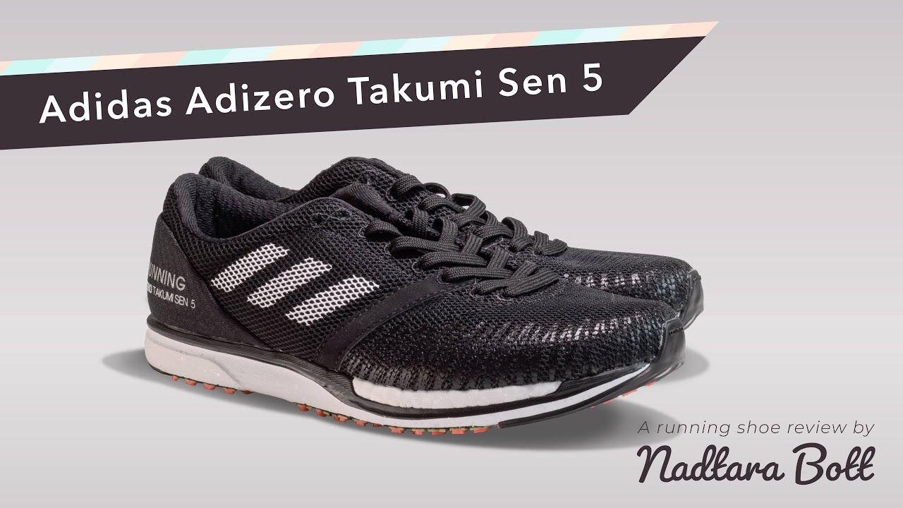 entonces Gobernable Descongelar, descongelar, descongelar heladas  Adidas Adizero Takumi Sen 5 - Review - YouTube