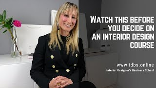 Watch this before you decide on an interior design course