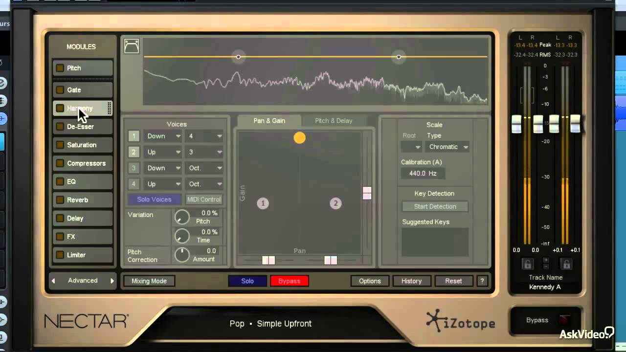 izotope nectar 2 vocal production toolbox 17 overview of the harmony module youtube. Black Bedroom Furniture Sets. Home Design Ideas