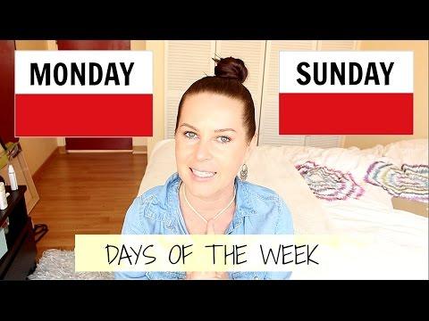 DAYS OF THE WEEK , MONDAY-SUNDAY   // FREE POLISH LESSON