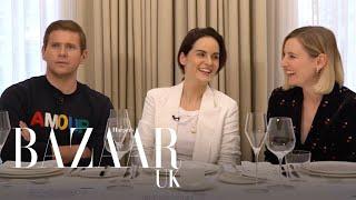 The Downton Abbey cast talk tiaras, weddings and politics | Table Manners | Bazaar UK
