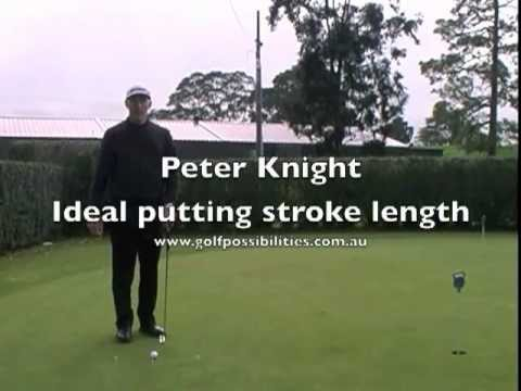 Ideal Putting Stroke Length