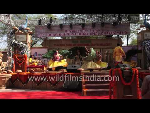 Famous Mayur Nritya or Peacock dance of Barsana
