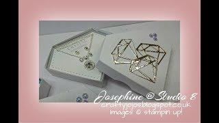 Diamond shaped jewelry box - Tutorial -