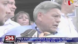 Elecciones 2016: empate técnico entre Acuña y PPK, según encuestas