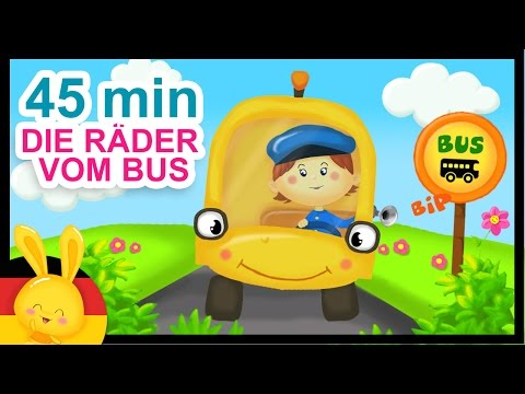 Die Räder vom Bus - Wheels On The Bus - German Nursery Rhyme - Kinderlieder Titounis