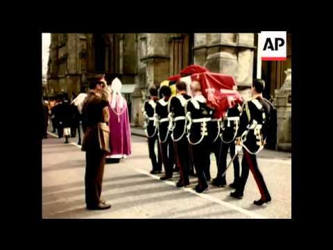 Duke of Norfolk's Funeral - In Colour - 1975