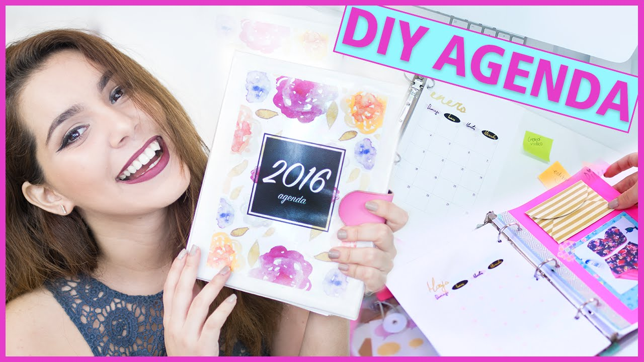 DIY AGENDA 2016 with free printable (How to make your own planner easy ...