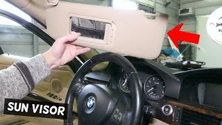 HOW TO REMOVE AND REPLACE SUN VISOR ON BMW E90 E92 E91 E93