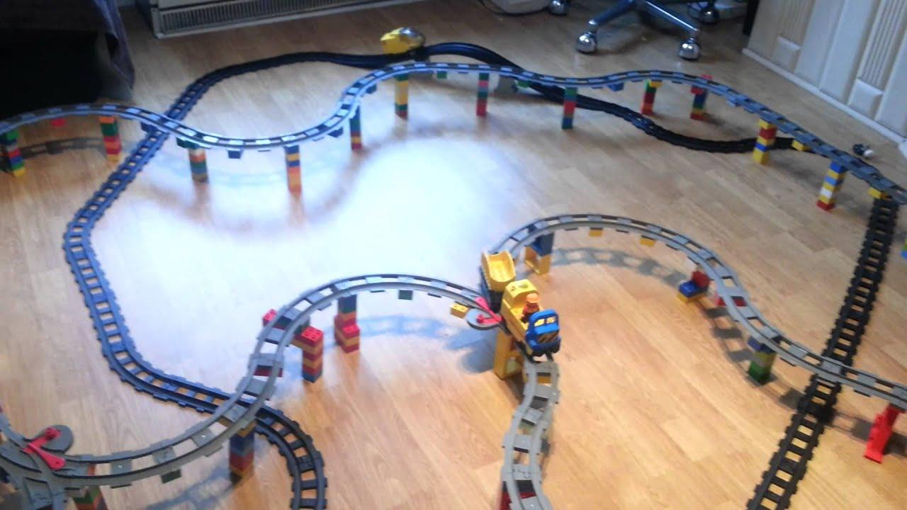 Lego Kolejka Elektryczna Dużo Torów Youtube