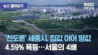 [뉴스 열어보기] '천도론' 세종시, 집…