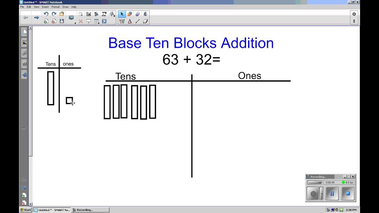 Worksheet Tens Blocks grade 2 base ten blocks addition youtube addition