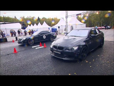 Mercedes SL 65 AMG vs BMW M3 ESS vs Porsche 911 Turbo; Nissan GT-R vs BMW M3 ESS