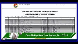 Download Video CARA MUDAH MELIHAT JADWAL TEST UJIAN SKD CPNS 2018 MASING MASING INSTANSI MP3 3GP MP4