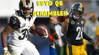 TODD GURLEY VS LE'VEON BELL! WHO CAN GET A 99YD QB SCRAMBLE FIRST?!?