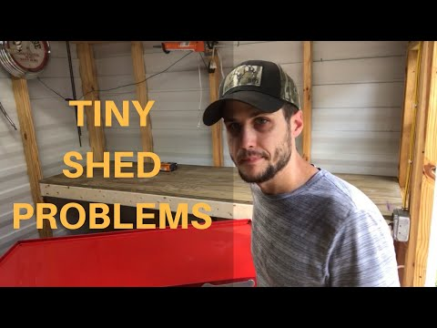 How To Build A Workbench In A TINY Shed.