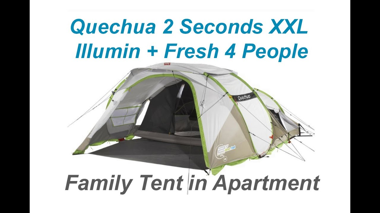 a36053f50  2 Quechua Unboxing Time Lapse Quechua 2 Seconds XXL Illumin Fresh 4 Man  Family Tent Apartment - YouTube Sc 1 St YouTube