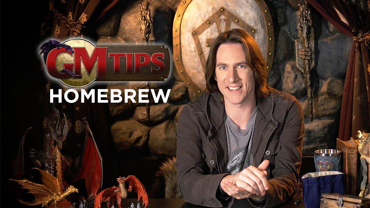 Creating Homebrew Content In Rpgs Gm Tips W Matt Mercer Youtube