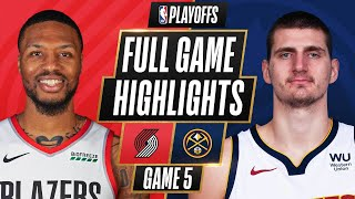 #6 TRAIL BLAZERS at #3 NUGGETS | FULL GAME HIGHLIGHTS | June 1, 2021