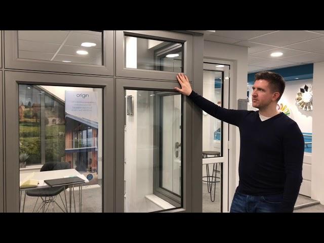 Cherwell Windows showroom tour - Origin Windows - flush aluminium windows