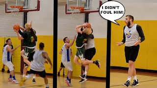 He FOULED The S*** Out Of Me! 5v5 Men's League Basketball!