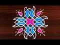 Easy Rangoli Designs  Simple DOTS Kolam Design for Floor Art   416