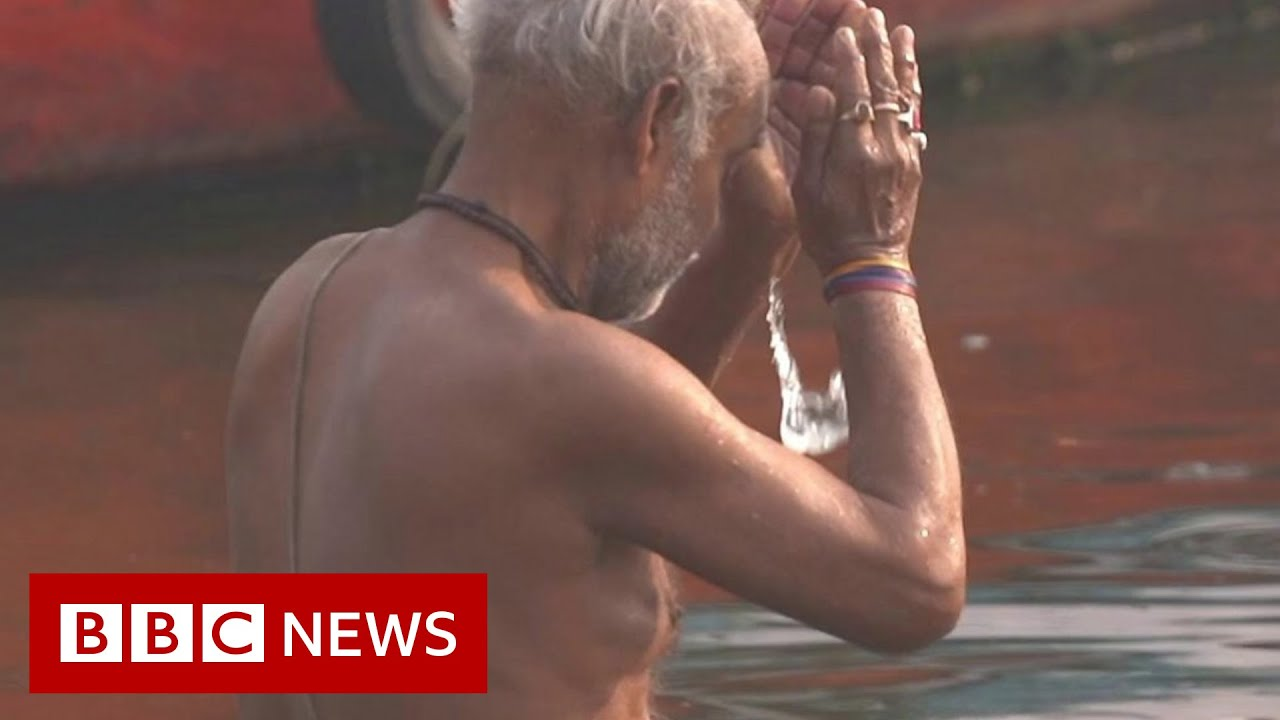 Covid causes new environmental dilemma for India's Ganges River - BBC News