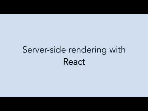 Server-side rendering with React.js