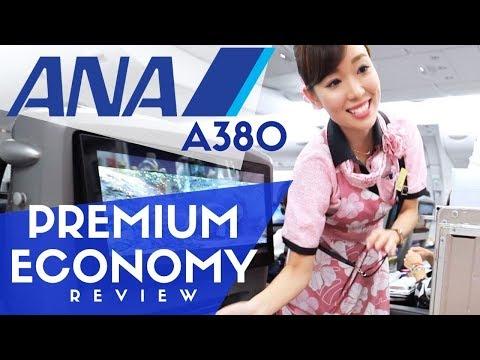 ANA Airbus A380 Flight Tour Of Premium Economy Class