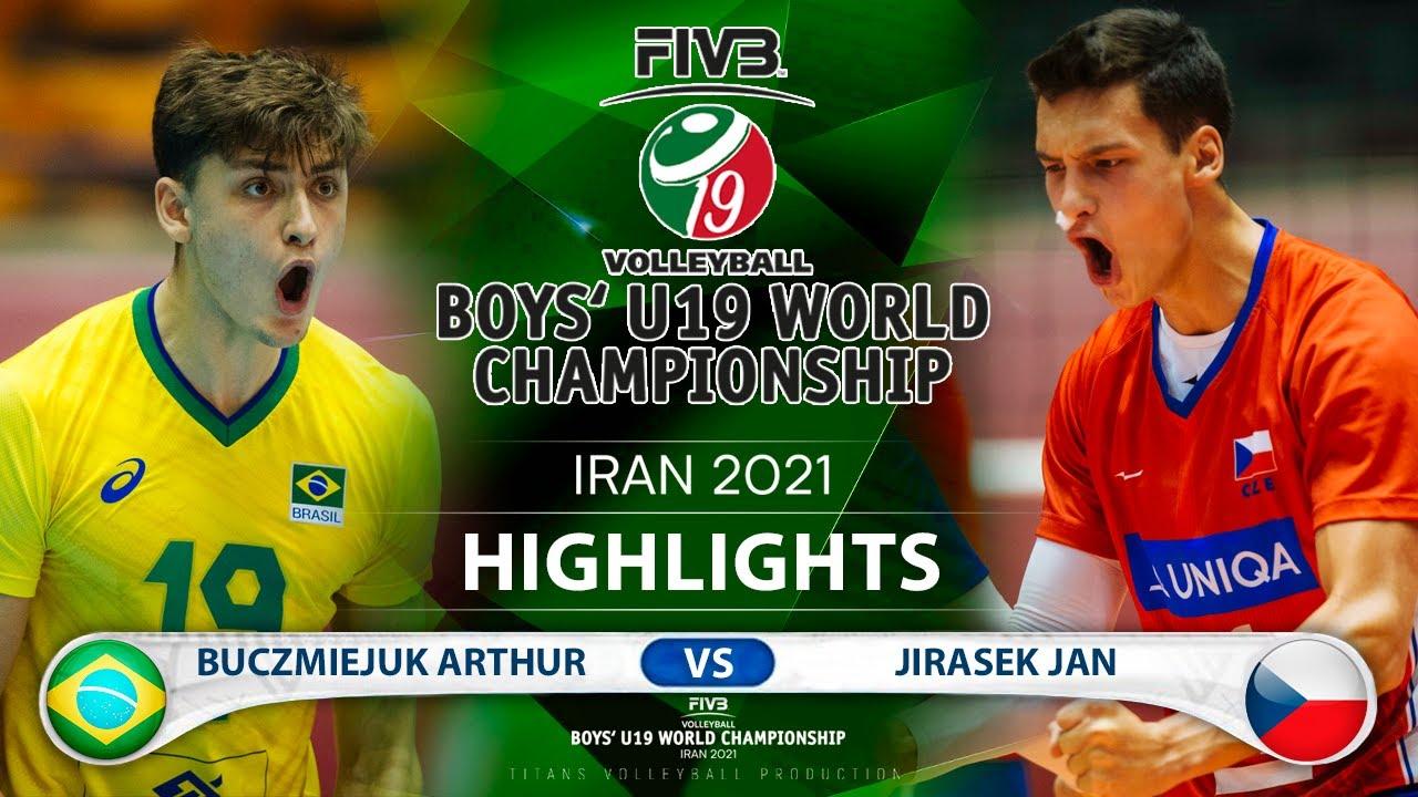 Brazil vs Czech | Boys U19 World Champs 2021 | Highlights | Buczmiejuk Arthur vs Jirasek Jan
