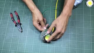 Chế đèn pin công suất lớn 100w siêu sáng.